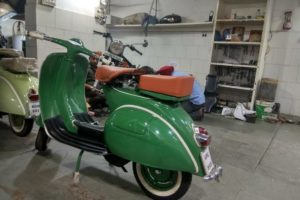 Refurbishing of an Old Vespa Scooter at our Garage 2